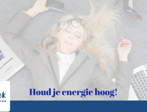 Zo houd je je energie hoog en verminder je stress